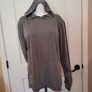 Skora Grey Qwick-Dry Hooded Pullover L